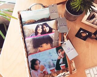 """Personalized Photo Wristlet- Birthday Gift Idea with Picture- Size 5""""x 10"""""""