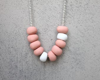 Custom colour clay necklace