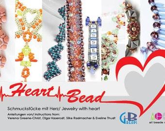 "EBook ""Heart Bead"" 8 Tutorials 4 Beadwork-Artists Language: GERMAN and ENGLISH"