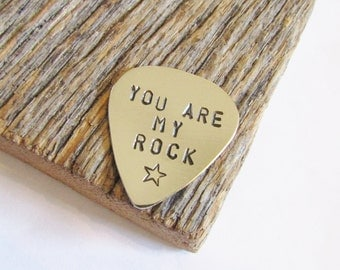 You are My Rock Star Personalized Guitar Pick Gift for Son Custom Gift Dad Music Gift Teacher You Rock My World Christmas Gift Daddy Gift