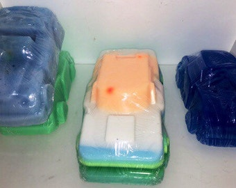Car soap bar, kids soap bar, car shaped soap