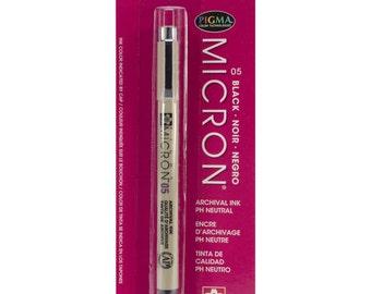 Pigma Micron Pen 05 .45mm - Black - Planner Pens, Stationery