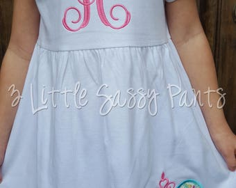 Minnie Mouse Dress- Minnie Princess Dress- Mouse Ears Dress- Disney Vacation- Monogrammed Dress
