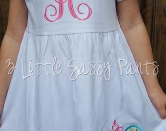 Minnie Mouse Dress- Minnie Princess Dress- Mouse Ears Dress- Disney Vacation- Monogrammed Dress