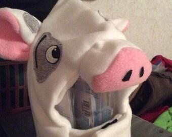 Pig costume hood, 12 month
