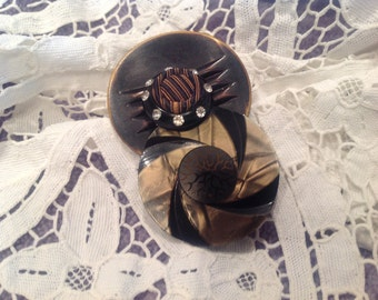 Vintage buttons pendant, artistically designed
