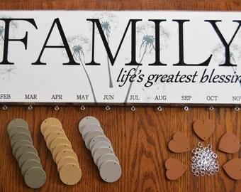 Dandelion Blessing Family Birthday Board Kit FBDBK