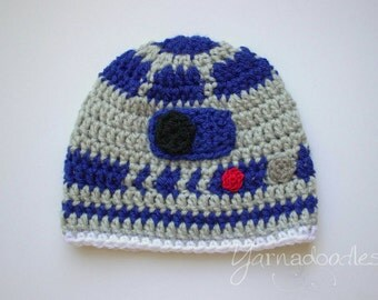 Robot Hat Droid Hat Crochet Star Wars R2D2 Hat Droid R2D2 Beanie