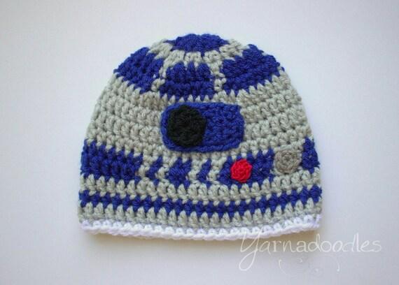 Robot Hat Droid Hat Crochet Star Wars R2d2 Hat Droid R2d2