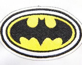 Batman Logo Badge Machine Embroidery Design