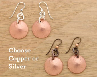 2017 US Penny Earrings with Silver or Copper Earwires Gift Coin Jewelry