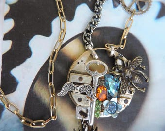 "Steampunk jewelry. Necklace designer style steampunk ""Sixth dimension"""