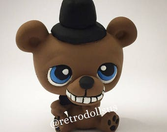 Custom Littlest Pet Shop Toy LPS FNAF Five Nights At Freddys Bear