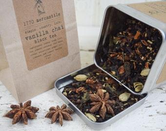 Organic Vanilla Chai Assam Black Tea blend 2, 3, 4, 5 oz bag you pick!