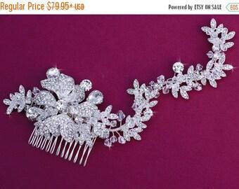 Wedding Bridal Comb Crystal Bride Accessories Hairpiece Hair Head Piece Jewelry Wreath Vine Pageant Clip Birdcage Veil Weddings Accessory