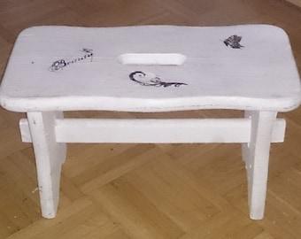 Foot stool + stool + vintage style + gift + Dekoschemel + decoration + Shabby chic