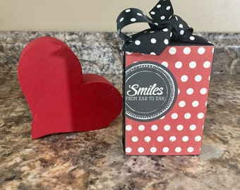 Smiles From Ear To Ear (Black) 3x4 Wood Block