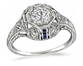 Vintage 0.85ct Diamond Engagement Ring