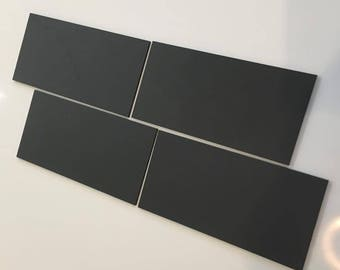 "Graphite Dark Grey Mat Acrylic Rectangle Crafting Mosaic & Wall Tiles, Sizes: 1cm to 25cm -  1"" to 10"""
