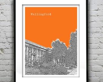 Wallingford CT Skyline Art Print Poster Connecticut Item S5014