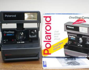 Working Polaroid OneStep Closeup 600 Instant film Camera - Battery tested