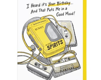 Heard It's Your Birthday Letterpress Card