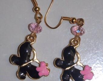 15%OFF Black Enamel Butterfly Earrings