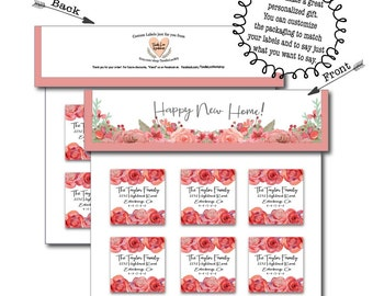 Housewarming Packaging Upgrade | Custom Housewarming Gift | Gift idea for her | Gift labels by mail