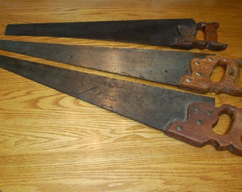 Vintage Hand Saw,  Disston, Wood Handle, Collectible, Shop Craft Supply