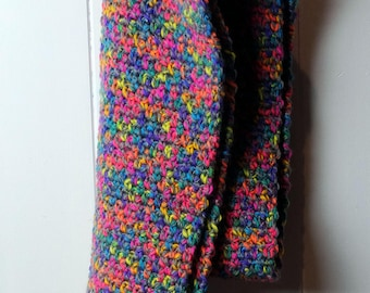 Long Multi colour scarf with fringe