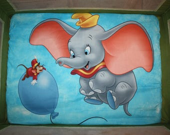 Fitted Pack n Play Sheet - Dumbo