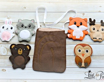 Finger Puppets, Forest Friends Finger Puppets, Forest Animals Finger Puppets