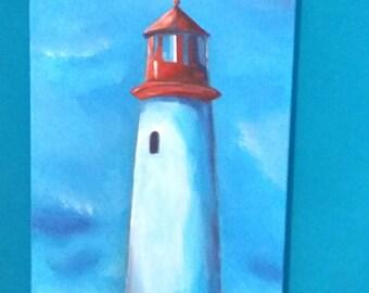 Lighthouse (original acrylic painting)