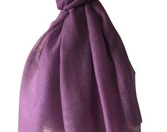 Violet Scarf, Soya Bean Cashmere Scarf, Eco Fashion Scarf, SustainableWear Wrap, Limited Edition