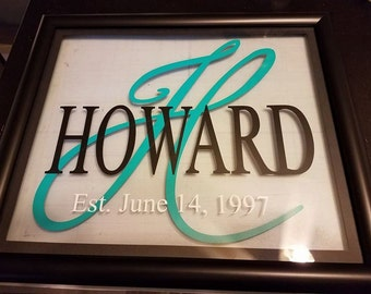 Last name frame- Wedding/Anniversary/Housewarming Gift