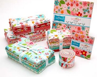 SALE Garden Girl FREE SHIPPING Fat Quarter Bundle 18 by Zoe Pearn for Riley Blake