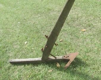 Antique Plow, Farm implement, farm tool, antique tool, wall decor, rustic decor, farmhouse decor,