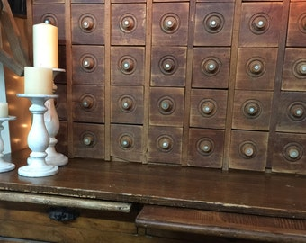 Antique cabinet, apothecary cabinet,drawers,wood cabinet,sewing spool, File cabinet, Furniture, Card Catalog, Library File