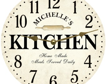 Personalized Kitchen Wall Clock- White Kitchen Clock