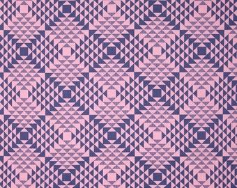 SALE Joel Dewberry Atrium /Pyramids in Pink/ quilting cotton/ cloud Fabric Canada/ half yard