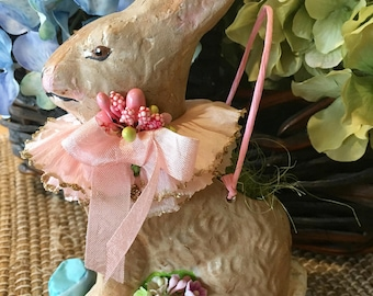 Lovely, Vintage Style, Easter Rabbit Candy Basket