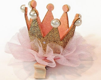 Minifascinator_Crown Hairclip_Gold