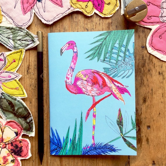 Pocket notebook- Flamingo