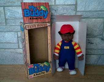 Vintage My Buddy Doll - African American or Black Version in Original box - Never Used