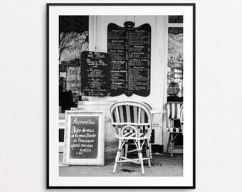 Paris Photography, Paris Cafe Print, Paris Print, Paris Decor, Paris Bedroom Decor, Paris Wall Art, Kitchen Decor, Paris Cafe Chairs