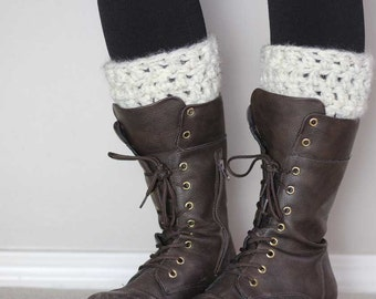 Super bulky Crochet Boot Cuff