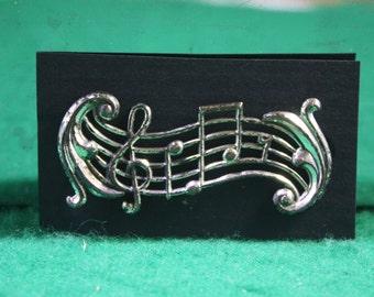 Vintage  Beau sterling silver Music stanza  brooch