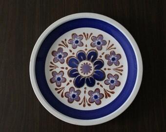 Vintage Mikasa Plates / Cera-Stone / Nightfall / Made in Japan / Cerastone / Blue and Purple Flowers