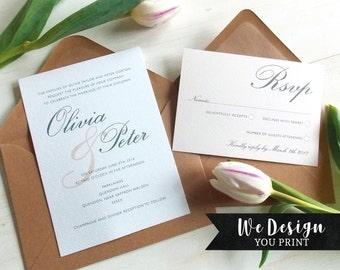 Wedding Invitation Template, Wedding Invitation Set, Elegant Wedding Invitation Printable, DIY Wedding Invitation, Vintage Wedding Invite