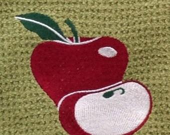 Apple -  Microfiber Hand Towel - Green
